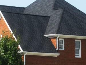 Close up of an Atlanta Roofing job